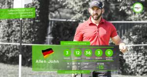 Mit drei Eagles spielt Allen John sich zum Sieg. (Foto: Pro Golf Tour)