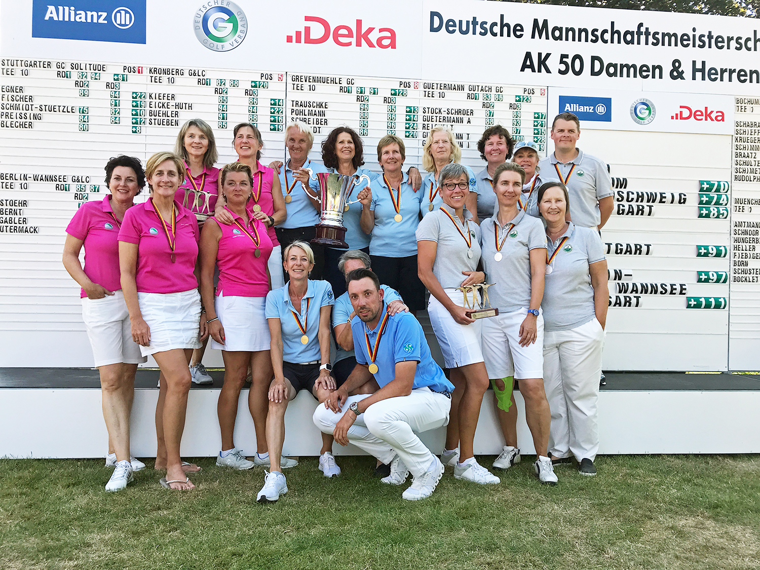 Premierenausgabe der DMM AK 50 Damen geht an den Stuttgarter GC Solitude (Foto: Langer Sport Marketing)