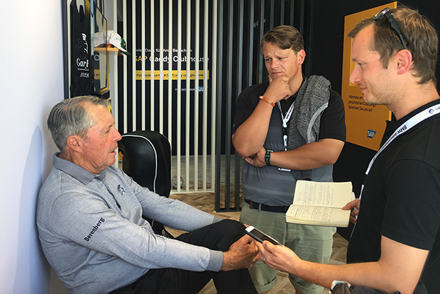 Golf Post im Gespräch mit Gary Player. (Foto: Golf Post)