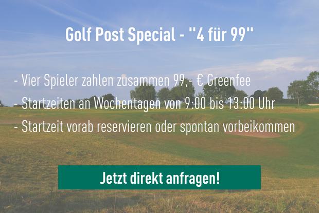 """Fragen Sie jetzt direkt das """"4 für 99"""" Angebot in Paderborn an. (Foto: Golfpost)"""