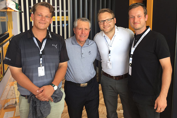 Golf Post beim Treffen mit Gary Player: Robin Bulitz, Gary Player, Matthias Gräf und Tobias Hennig (v.l.n.r.). (Foto: Golf Post)