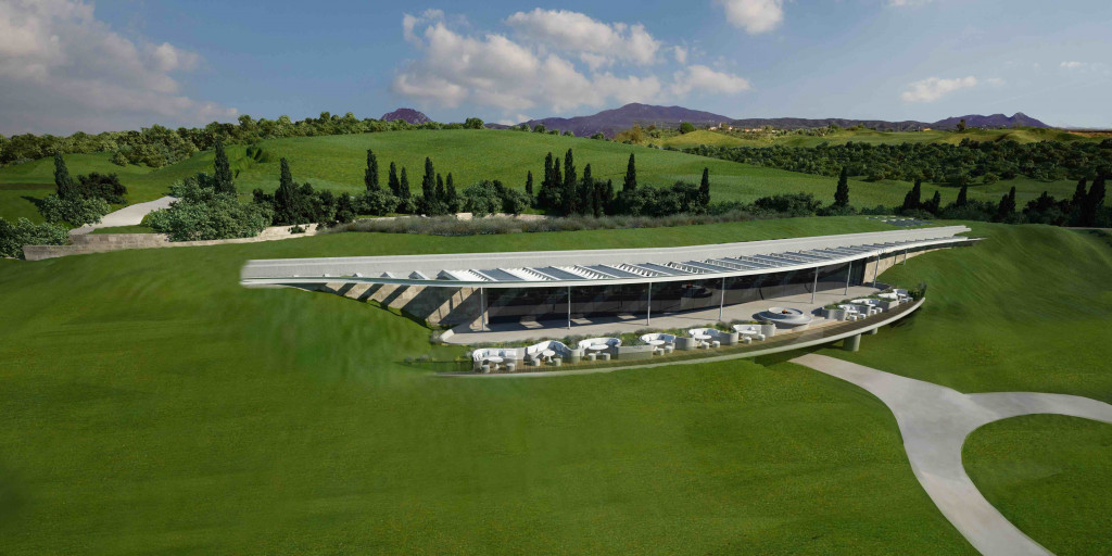Modell des Clubhauses 'The Bay Course' (Foto: Costa Navarino)