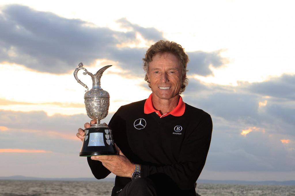 Bernhard Langer beim Triumph der Senior Open Championship im Jahr 2004. (Foto: Getty)