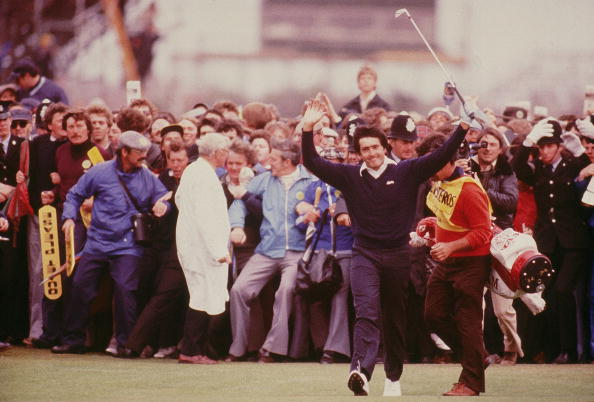 Seve Ballesteros kurz vor seinem ersten Sieg bei der Open Championship im Jahre 1979. (Foto: Getty)