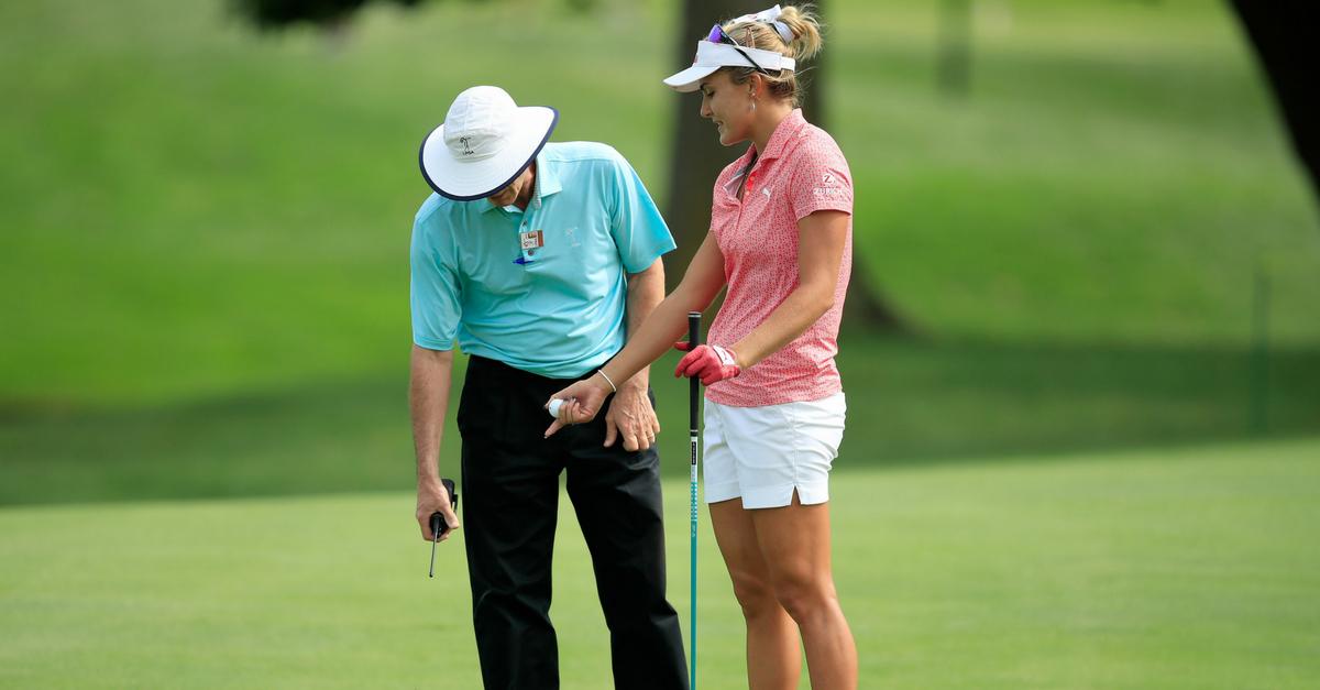 Golfregeln Entfernungsmesser : Die absurdität mancher golfregeln am beispiel lexi thompson