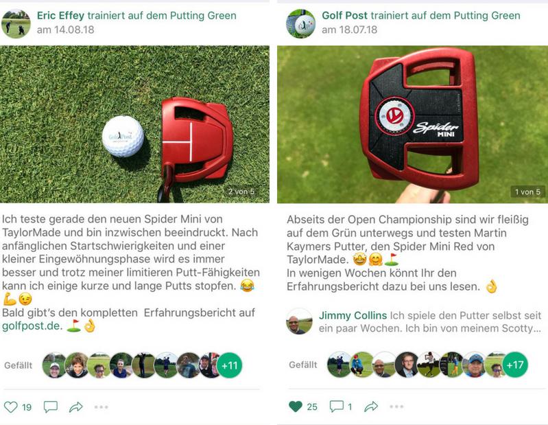 """Auch der <a href=""""https://app.golfpost.de"""" target=""""_blank"""">Golf Post Community</a> wurde der neue Spider Mini Putter vorgestellt. (Fotos: Golf Post)"""