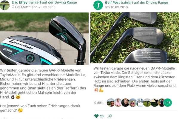"""Auch in der <a href=""""https://app.golfpost.de/"""" target=""""_blank"""">Golf Post Community</a> wurde sich über die neuen GAPR ausgetauscht. (Fotos: Golf Post)"""
