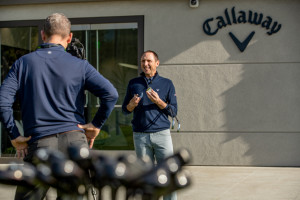 Der Kopf hinter Callaways technologischen Errungenschaften ist Dr. Alan Hocknell (re.). (Foto: Callaway)