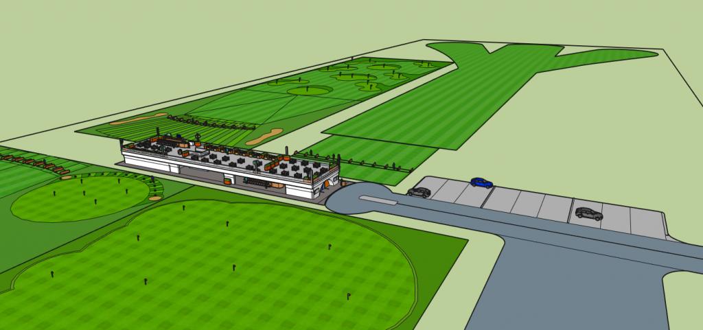 So soll die geplante Anlage aussehen. Die einzelnen Stationen sind gut zu erkennen. (Foto: golfuture.net)