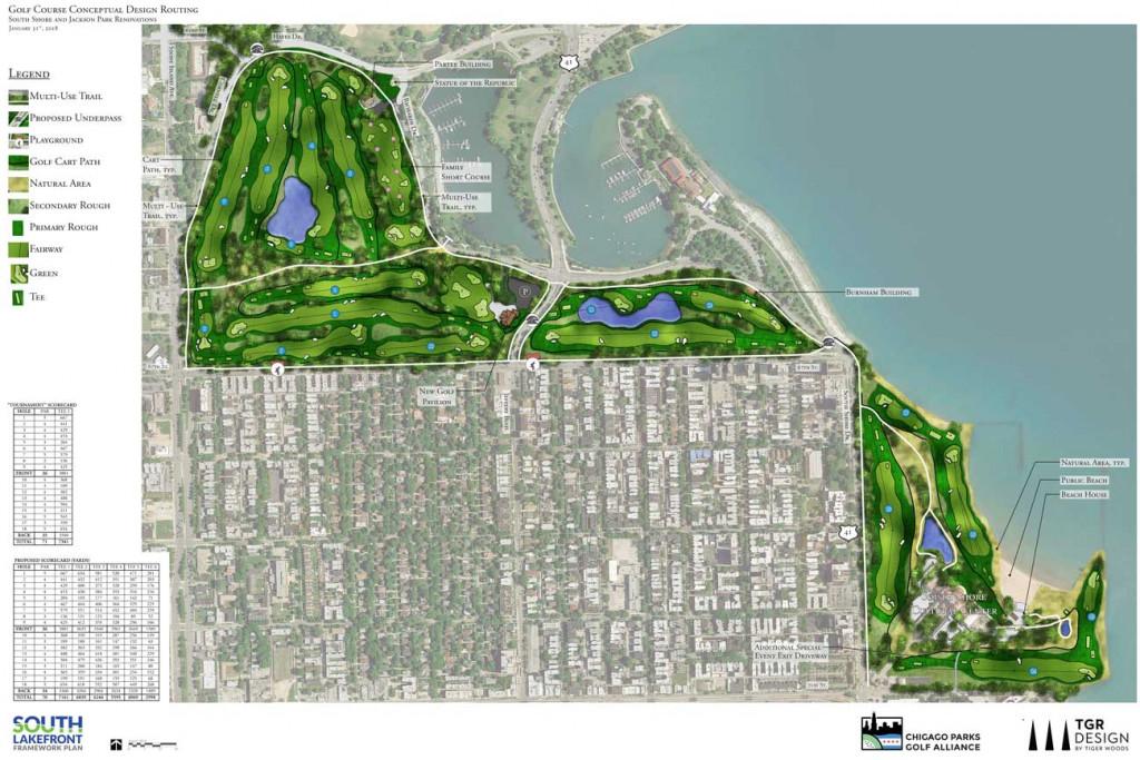 Der komplette Plan für South Shore und Jackson Park. (Foto: tgrdesign.com)
