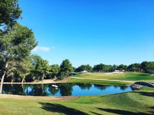 Im T-Golf& Country Club Poniente auf Mallorca geht's steil bergauf mit dem Platz. (Foto: Golf Post)
