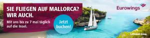 Mit Eurowings können Sie am schnellsten und einfachsten nach Mallorca reisen. (Foto: Eurowings)