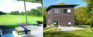 Die zweistöckige Players Lodge mit Fitting Center und Golf Academy. (Fotos: Golfanlage Seeschlösschen)
