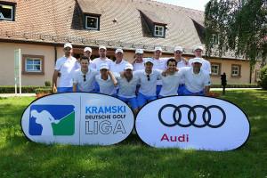 Stuttgarter Jubel nach dem dritten Sieg am dritten Spieltag. (Foto: DGV/Kirmaier)
