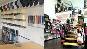 Fittingwerkstatt und Pro Shop der Golfanlage. (Fotos: Golf & More)