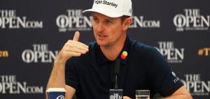 Justin Rose auf der Pressekonferenz bei der British Open 2019. (Foto: Getty)