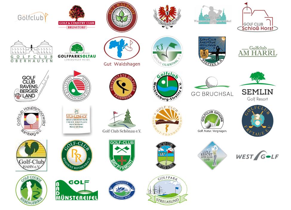 Alle teilnehmenden Clubs in der Übersicht. (Foto: mein Golfclub)