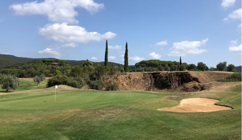 Grün der 15. Bahn des Golf Clubs Toscana (Foto: Jürgen Linnenbürger)