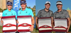 Zwei Sieger innerhalb von fünf Jahren für Jason und Bernhard Langer. (Foto: Twitter/@ChampionsTour)